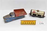 Antique Metal Toy Truck & Train Car Toys