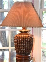 """Two lamps w/bamboo base - 25""""T"""