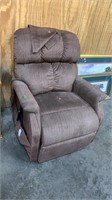 Brown Power Recliner: Rough, Untested As-is