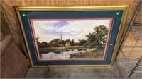 """2 Framed Artwork Prints: 41""""32"""", 36""""20"""""""