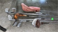 Small Batch Of Vintage Golf Clubs