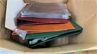 3 Books Of  Assorted Stamps & Empty Stamp Albums
