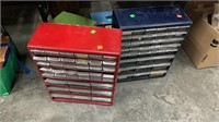 7 Parts Bins With Contents