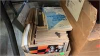 Vintage Electronics & Electronics Books, File Box