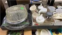Misc Kitchenwares, Ball Jars, Glasswares, Cups