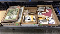 5 Flats & 2 Albums Of Vintage Photographs