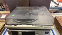 Technics Turntable, Jbl Speakers, Box Of Records