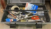 Grey Toolbox With Contents