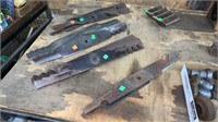 Assorted Hitches, Hitch Parts, Mower Blades