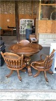 "Table & 3 Chairs: 31"" Tall, 41"" Diameter"