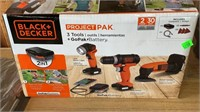 Black & Decker Project Pak 3 Pc Tool Set & Battery