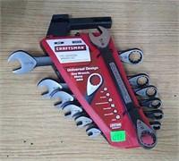 Craftsman 7 Pc Universal Wrench Set: Inch