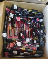 Box Lot Of Assorted Craftsman & Ace Screwdrivers