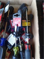 Flat Of Assorted New Craftsman & Ace Screwdrivers