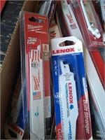 Flat Of Assorted Lenox, Milwaukee Saw Blades