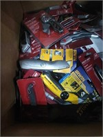 Box Lot Of Assorted Box, Folding, Hobby Knives