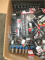Box Lot Of Assorted Sockets & Ratchets