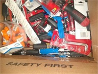 Box Lot Of Assorted Screw Drivers