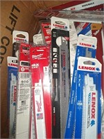 Box Lot Of Assorted Reciprocating Saw Blades