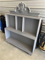 Super cute shabby chic gray shelf