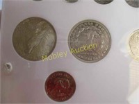 AMERICAN COIN SET LOTS OF SILVER