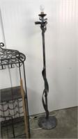 Wine rack and lamp