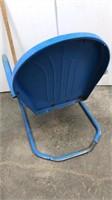 Metal lawn chair