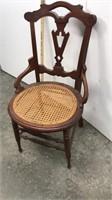 Wicker bottom chair