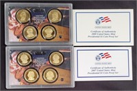 2007 & 2008 US PRESIDENTIAL $1 COIN PROOF SETS(59)