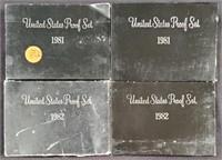 1981-1982 - UNITED STATES PROOF SETS (74)