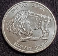 1.0oz SILVER BUFFALO COIN - MINT COND.