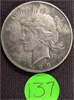 1923 - SILVER PEACE DOLLAR (137)