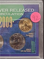2009 NEVER RELEASED FOR CIRCULATION COINS (92)