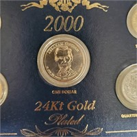 2000 24KT GOLD PLATED COIN SET (93)