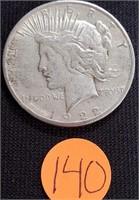 1922 - SILVER PEACE DOLLAR (140)