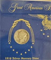 GREAT AMERICAN DOUBLE DATED SILVER DIMES (94)