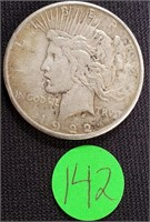 1922 - SILVER PEACE DOLLAR (142)