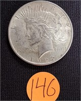 1922 - SILVER PEACE DOLLAR (146)