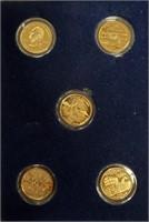 2001 GOLD PROOF SETS OF QUARTERS (108)