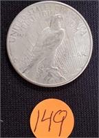 1923 - SILVER PEACE DOLLAR (149)