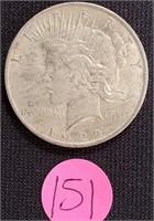 1922 - SILVER PEACE DOLLAR (151)