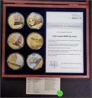 250TH ANNIV. HMS VICTORY COIN PROOF SET (115)
