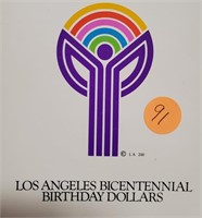 LOS ANGELES BICENTENNIAL BIRTHDAY DOLLARS (91)