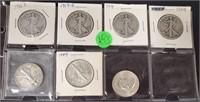 SILVER AMERICAN EAGLE HALF DOLLARS (183)