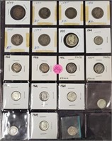 MIXED LOT OF SILVER DIMES - SEE PICS (184)
