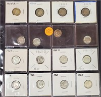 MIXED LOT OF DIMES - SOME SILVER (185)