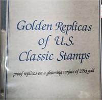 GOLDEN REPLICAS OF US CLASSIC STAMPS BINDER (192)