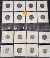 LOT OF SILVER DIMES - SEE PICS (179)