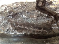 Frederick Remington bronze on marble base ,