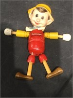 Vintage Ideal Pinocchio 8 in jointed doll,